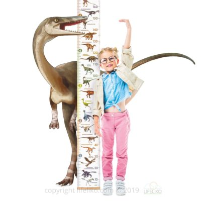 Lifeliko Personalised Growth Chart for Dinosaur Lovers